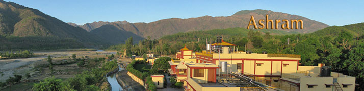 Panoramic View of Ashram and mountains