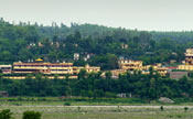 Panoramic front view of ashram